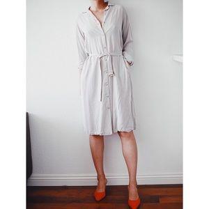 Uniqlo x ines de la fressange shirt dress